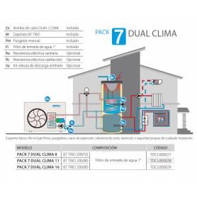 PACK 7 DUAL CLIMA 11 de Aerotermia DomusaTeknik