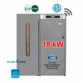 Calderas de Pellets BioClass IC 18 kW. con Depósito TBIO000137 Domusa