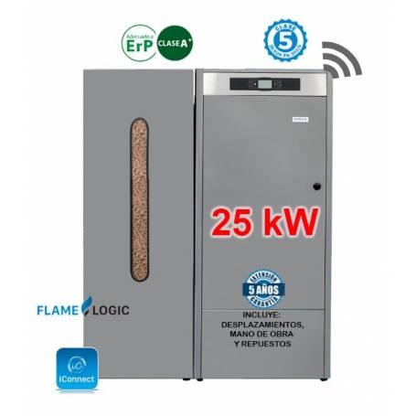 Calderas de Pellets BioClass IC 25 kW. con Depósito TBIO000138 Domusa