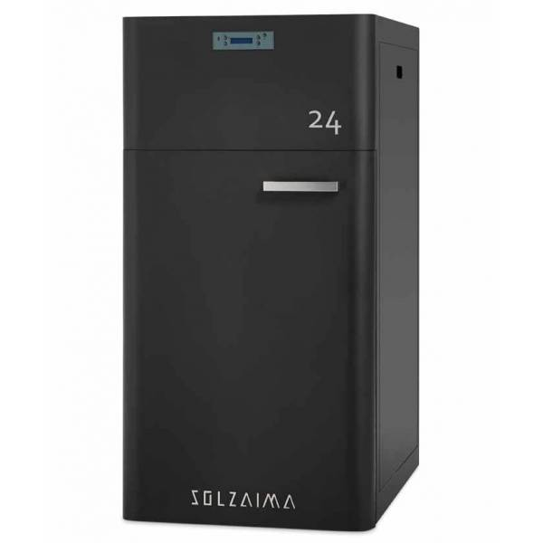 Caldera pellets SZMA 24 kW limpieza automática radiadores Solzaima
