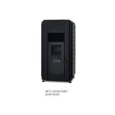 Hidroestufa Douro 17 kW negra de pellets aire/agua radiador Solzaima
